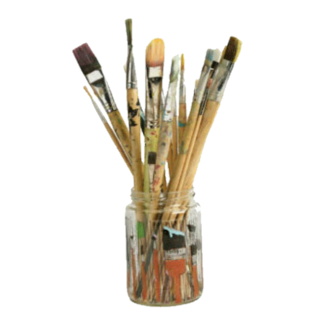 Paint brushes png. Aesthetic polyvore paintbrush art
