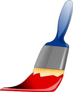 Brush clipart paint brush. Clip art at clker