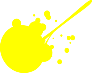 Yellow paint splatter png. Splat clip art at
