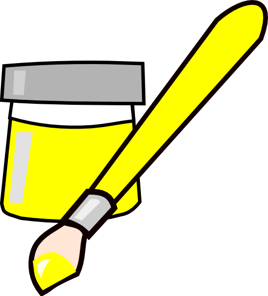 Paint clipart yellow. Clip art at clker