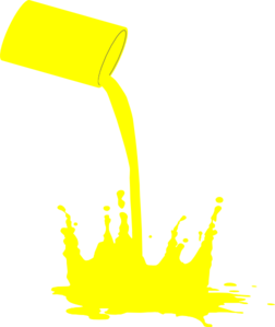 Paint clipart yellow. Splat clip art at