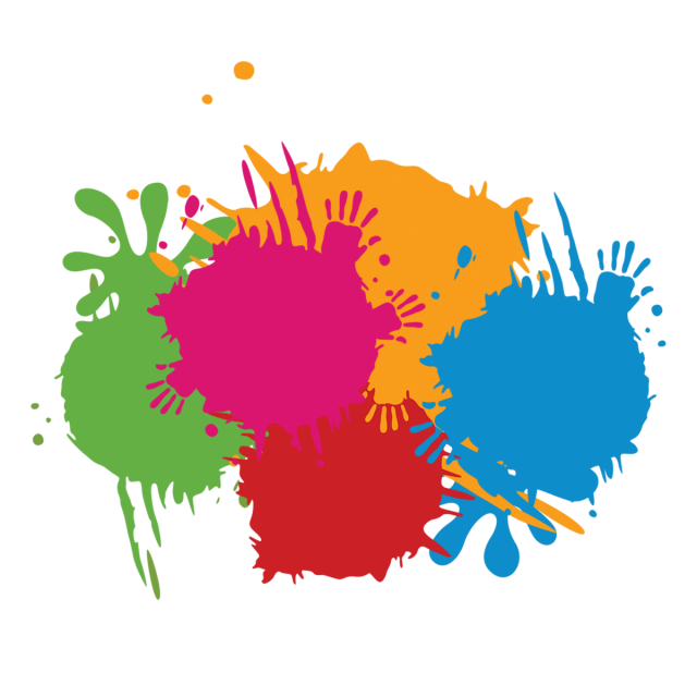 Splash of paint png. Color hand and psd