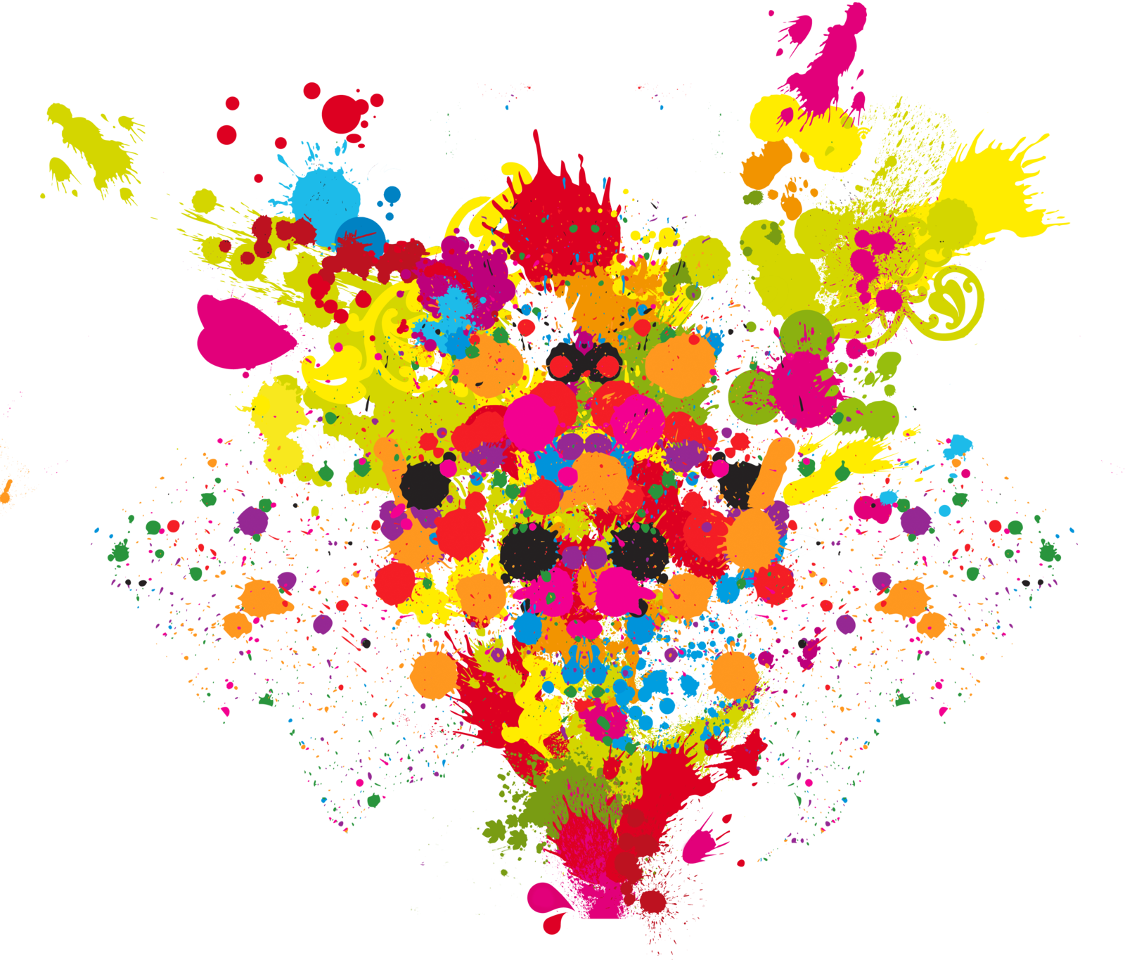 Paint explosion png. Colours clipart transparent transparentpng