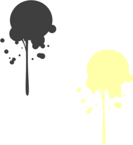 Drip outline png. Yellow paint moved clip