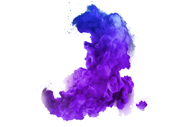 Paint explosion png. Blue purple smoke color