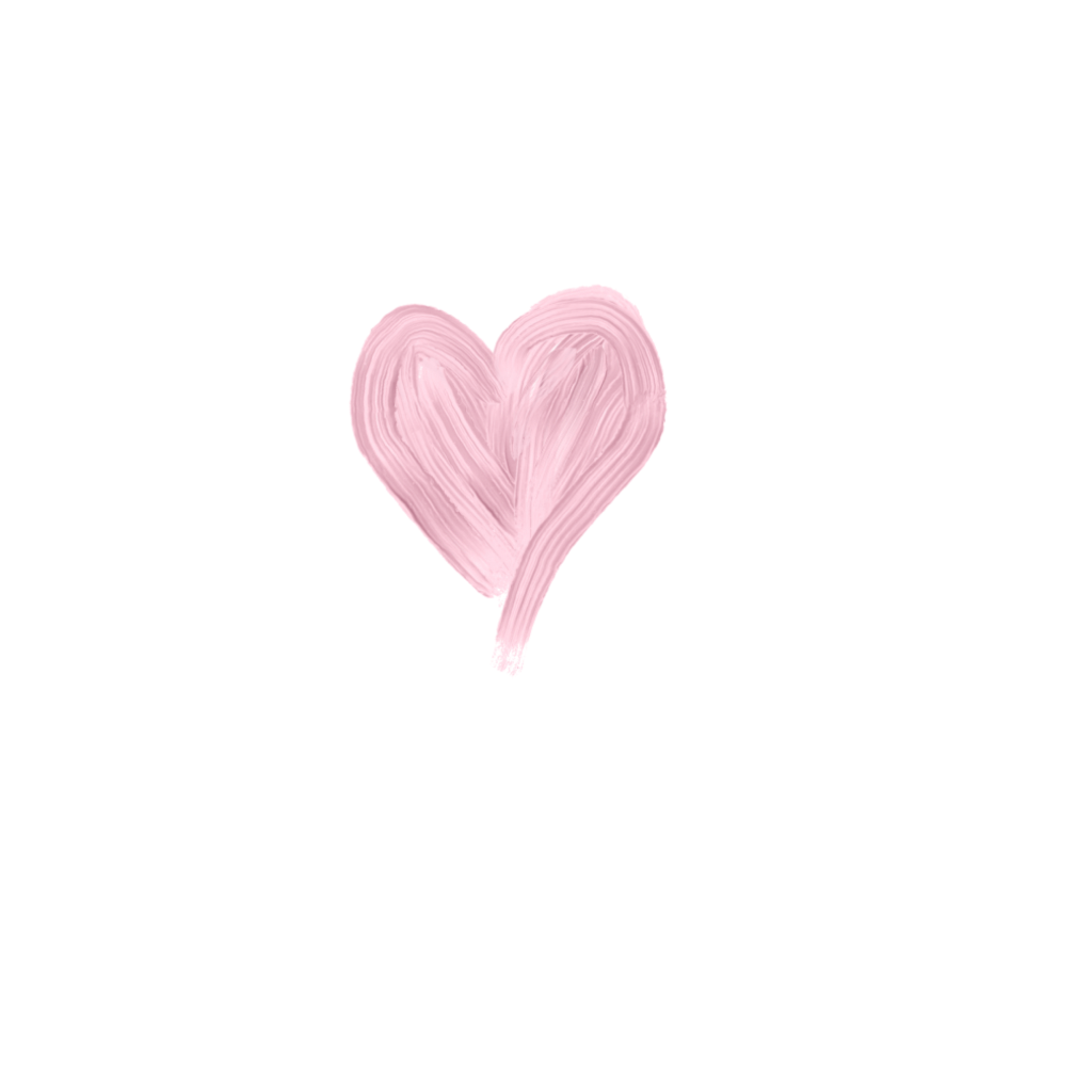 Painted heart png. Paint painting hearts pastel