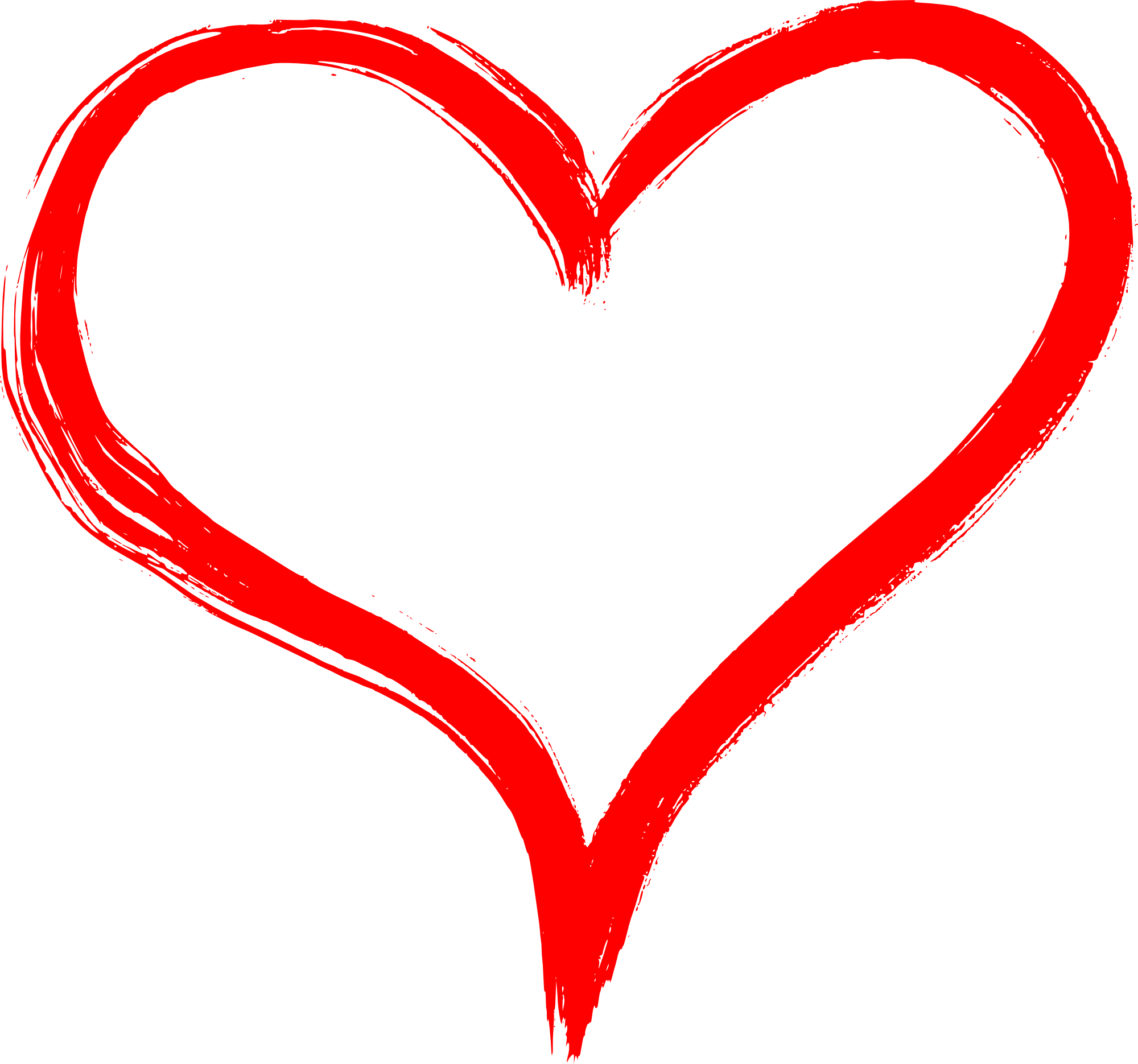 Paint heart png. Hand drawn transparent onlygfx