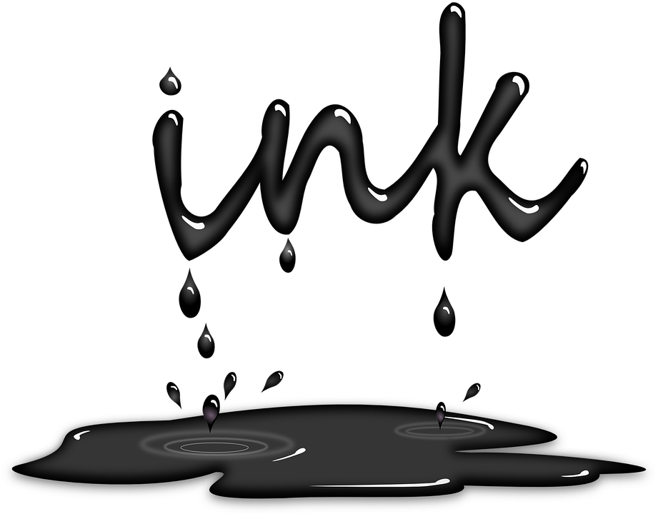 Paint puddle png. Black and white transparent