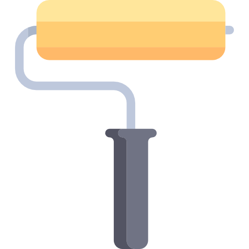 Paint roller png. Icon page svg