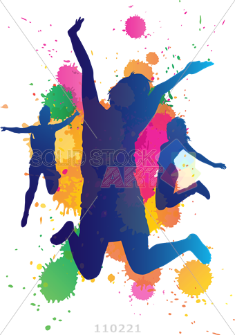 Paint splatter .png. Stock illustration of jumping