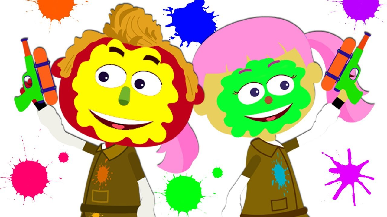 Paintball clipart kid. Learn colors with for