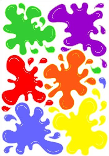 Paintball clipart paint bottle. Multicolored splat wall decals