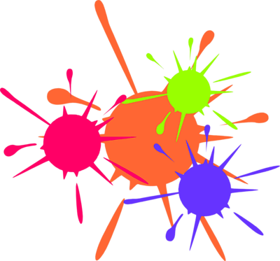 Paintball clipart rainbow painting. Colors paint home clip