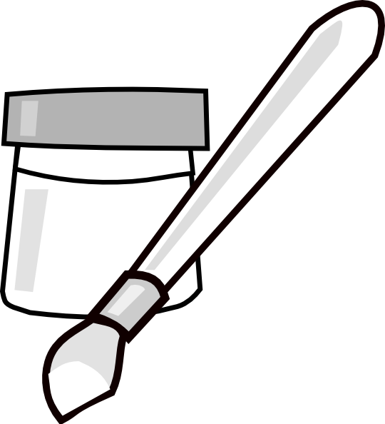 Paintbrush clipart paint bottle. Clip art at clker