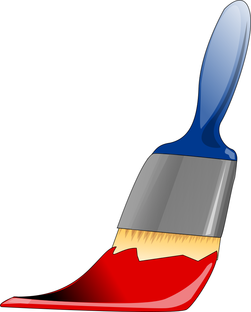 Paintbrush clipart paint bottle. Onlinelabels clip art brush