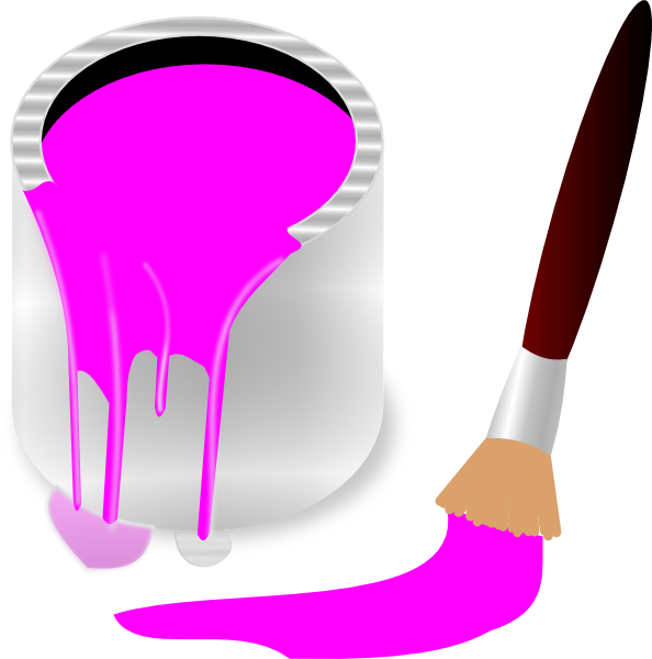 Paintbrush clipart paint splatter. Clip art pink bing