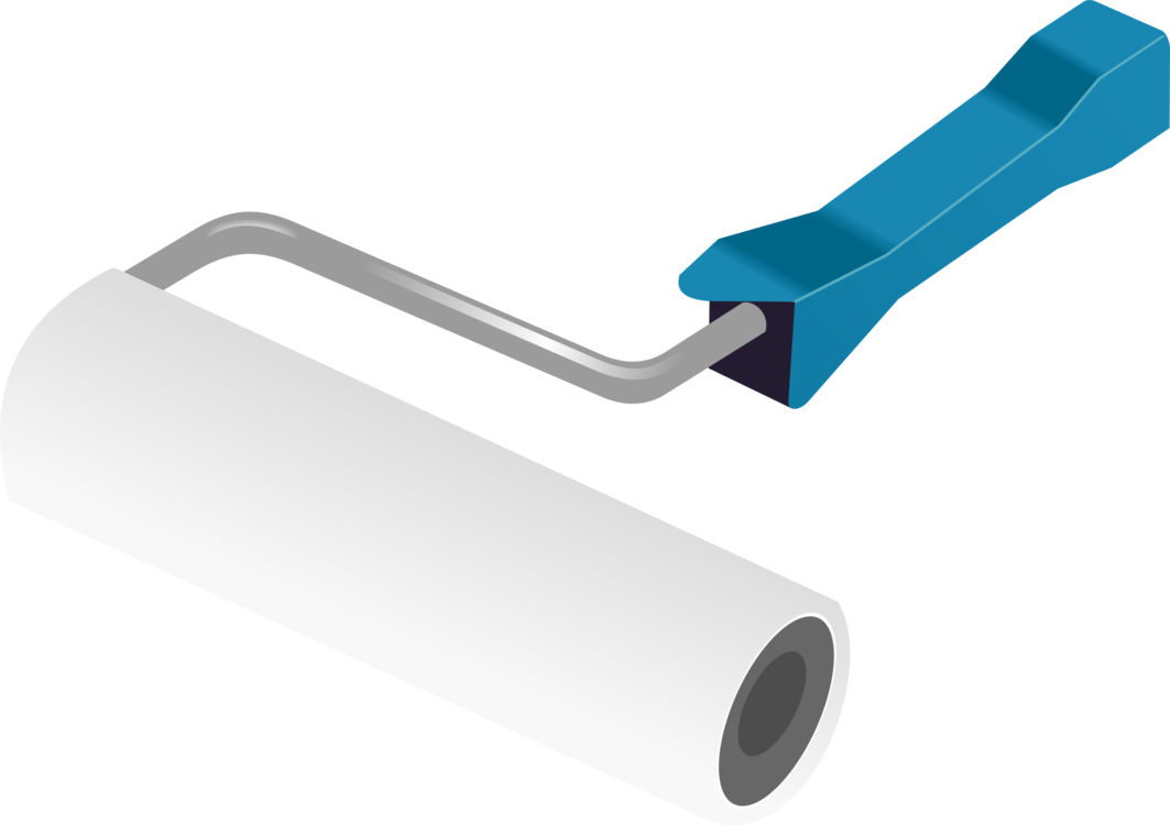 Painting clipart painting material. Paint rollers paintbrush free
