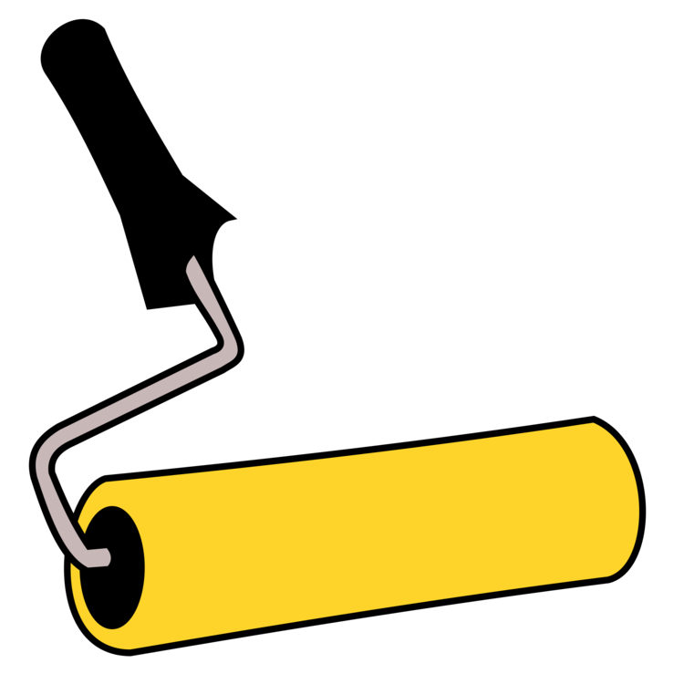 Painting clipart painting material. Paintbrush paint rollers free