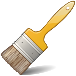 Paintbrush clipart wall. Artist paint brush clip