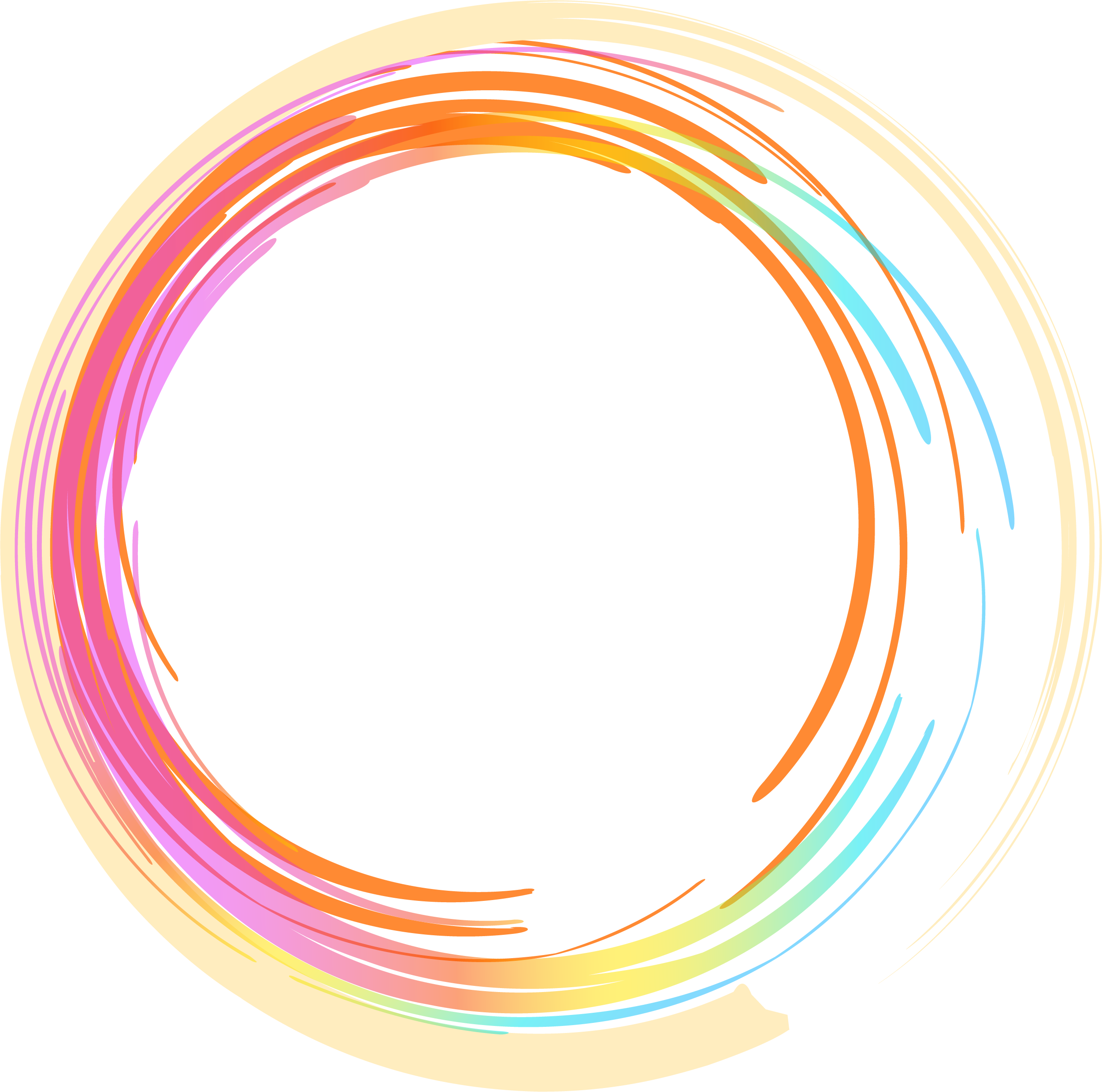 Painted circle png. Gratis hand colorful transprent
