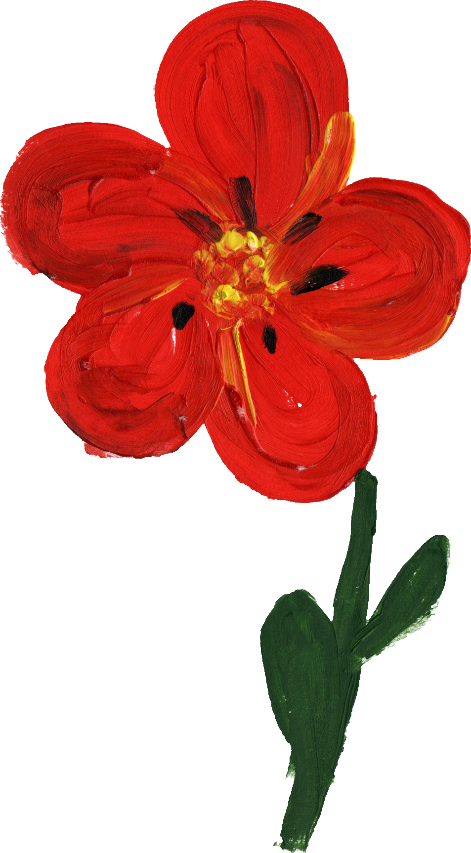 Painted flower png. Simple transparent onlygfx