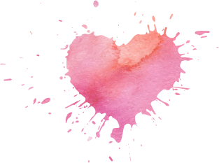 Painted heart png. Freetoedit image by