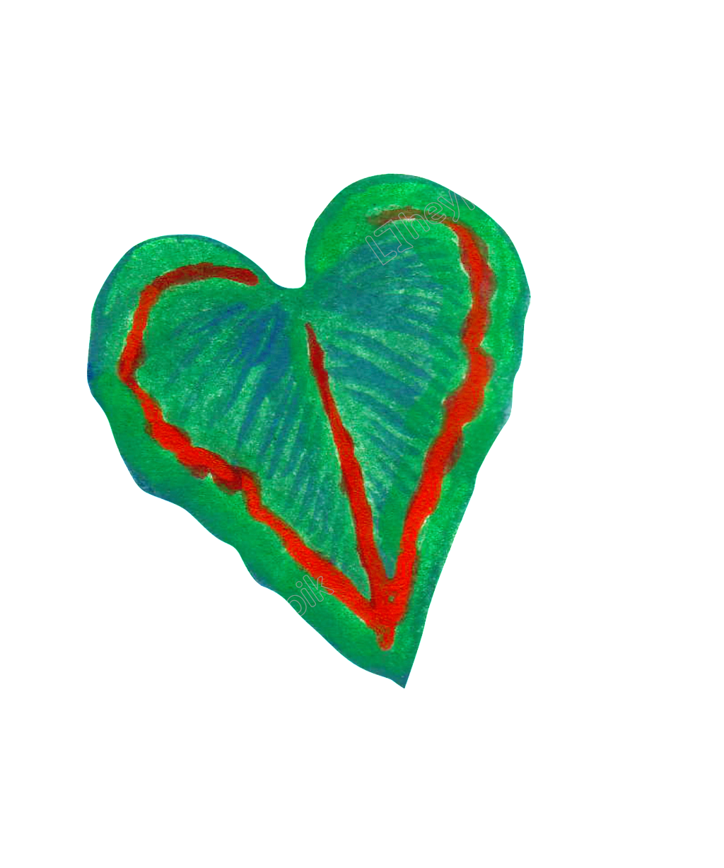 Painted heart png. Shaped leaves transparent free
