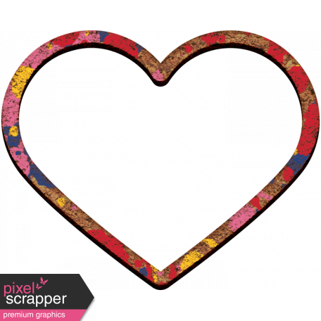 Painted heart png. Go west mini kit