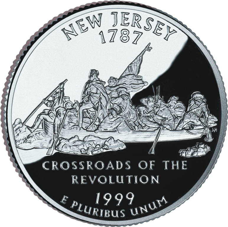 Painted quarter png. New jersey state quarters