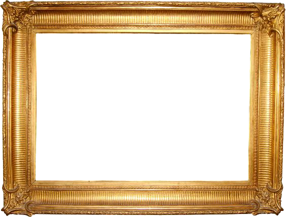 Painting frame png. Gold transparent images all