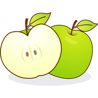 Pair of apples outline png. Download apple category clipart