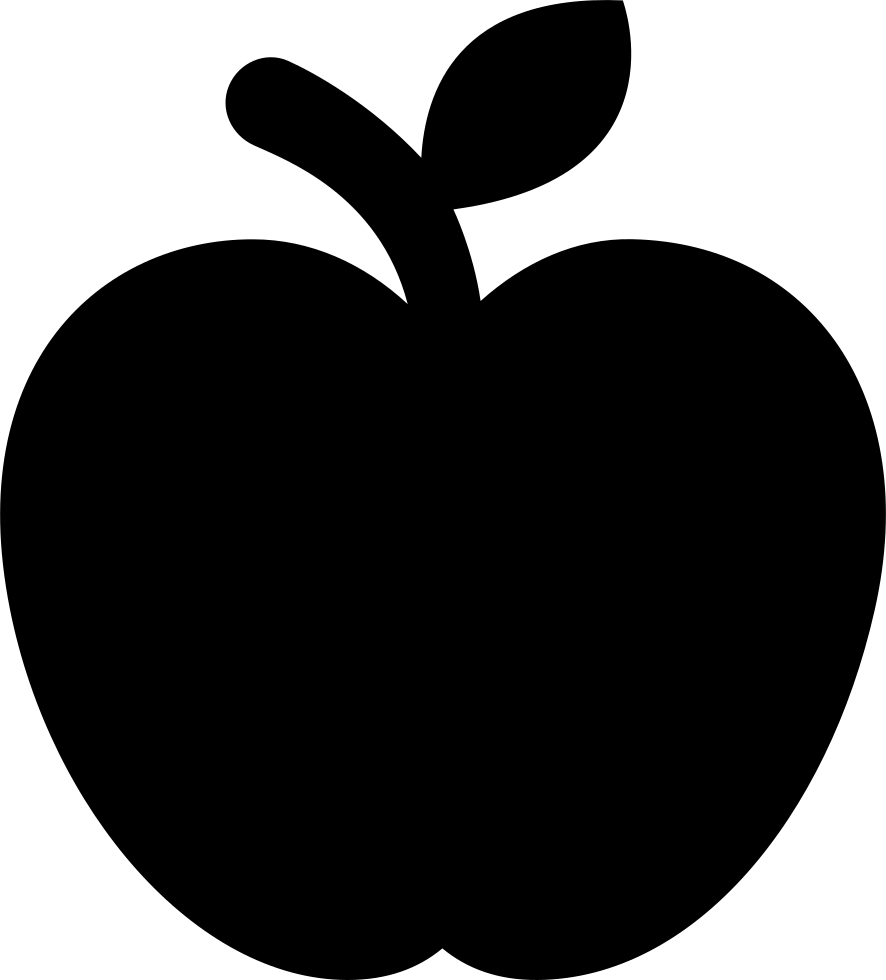 Pair of apples outline png. Apple fruit svg icon