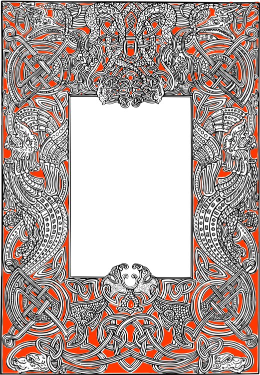 Paisley border png. Picture frames drawing free