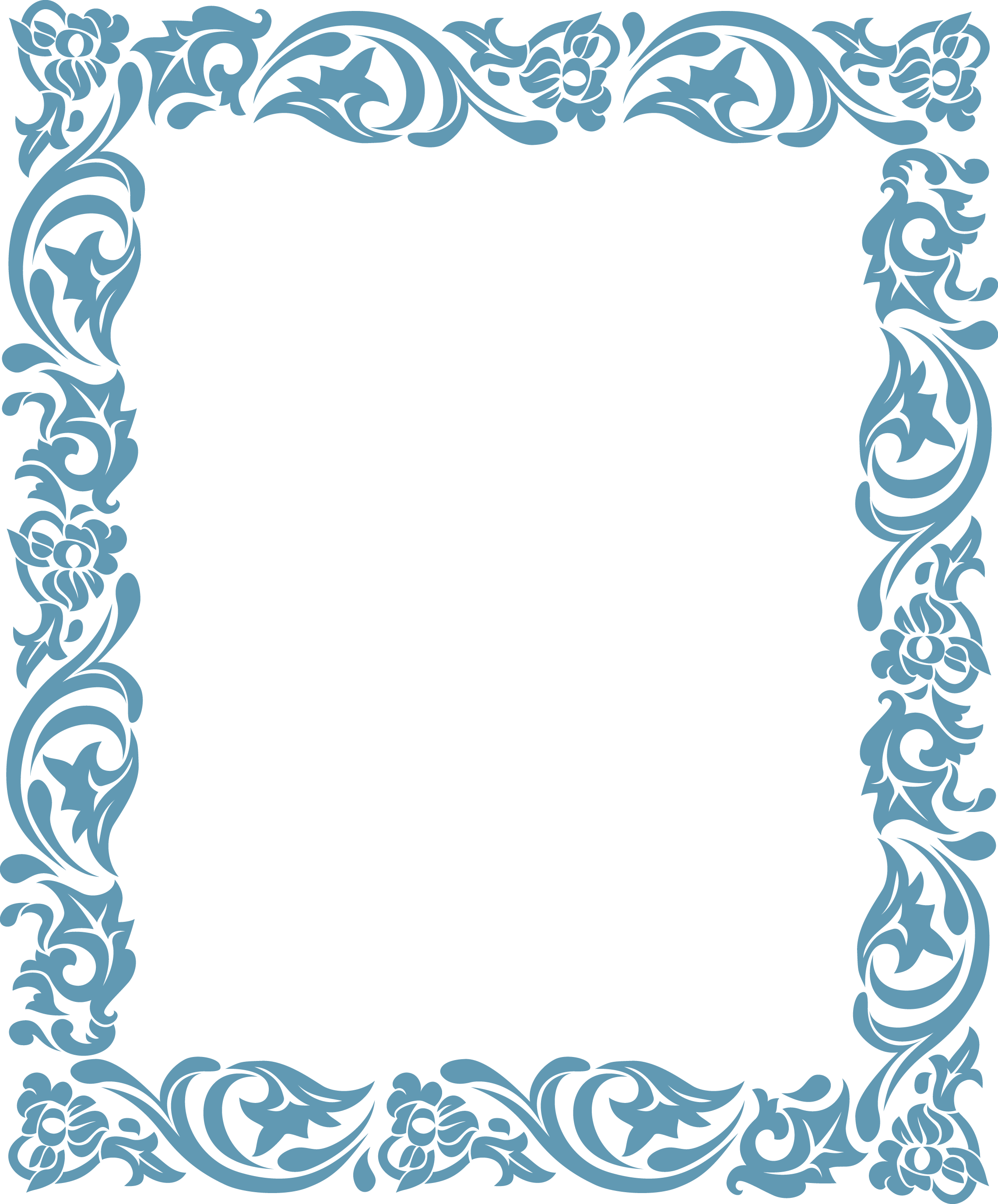 Paisley border png. Blue pattern texture poster