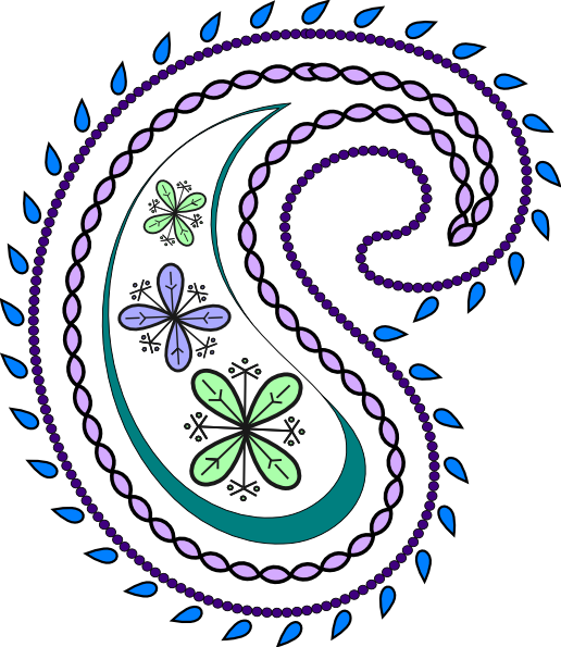 Paisley clipart. Free