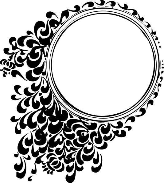 Paisley clipart black filigree. Circular tattoo designs circle