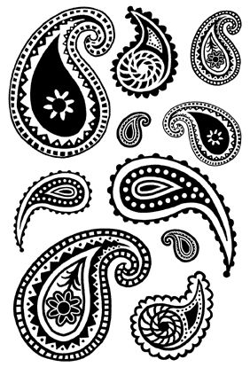 Paisley clipart simple. Black and white patterns
