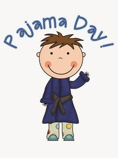 rest clipart pj day