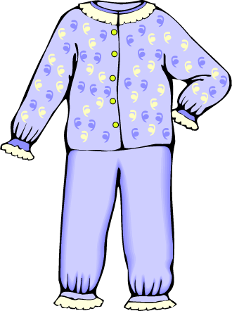 Pajama clipart. Ideal pajamas suggest kayak