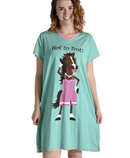 Pajama clipart night clothes. V neck nightshirts by