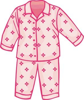 Pajama clipart night clothes. Free childs pajamas and
