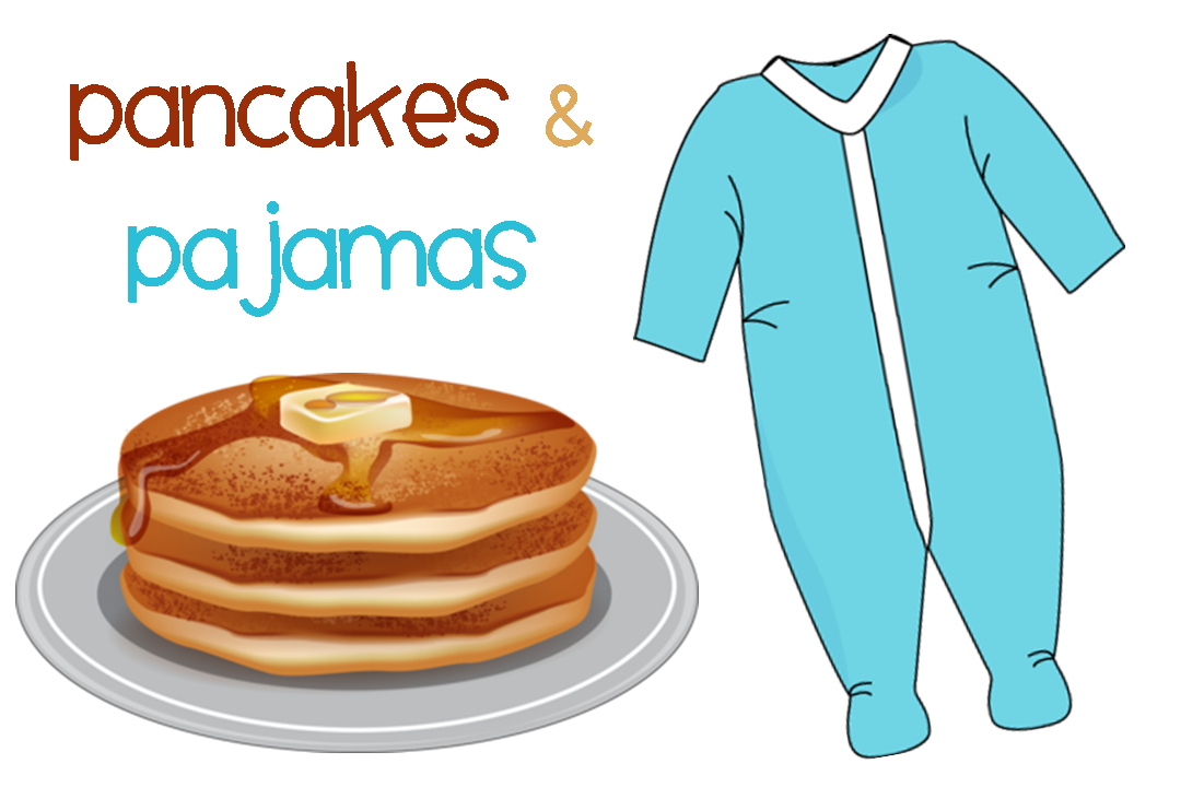 Pancakes and pajamas family. Pajama clipart pancake clip art library download
