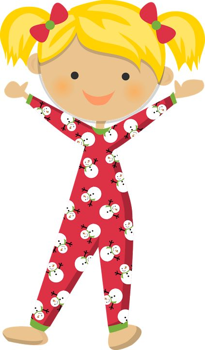 pajama clipart red pajamas