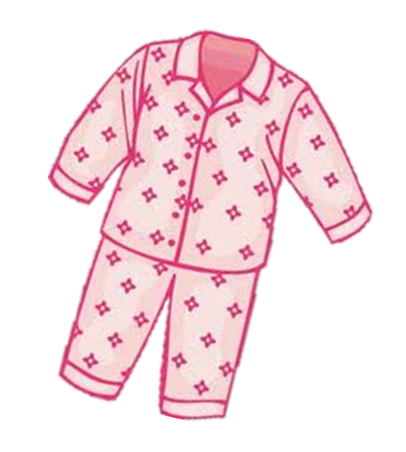 Pajama drawing night dress. Pajamas clipart black