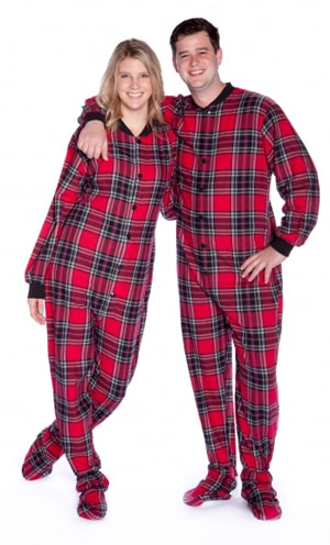 Pajamas clipart flannel. Big feet adult red