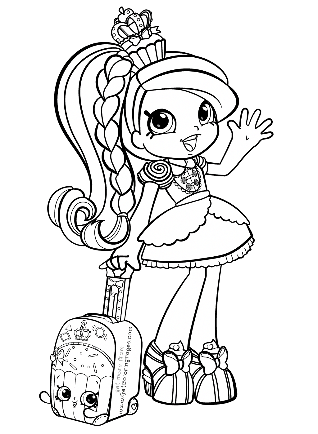 Shoppies coloring pages shopkins. Shopkin drawing black and white clip art library stock