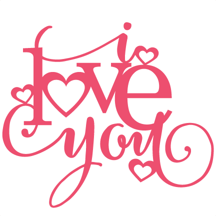 Palabra love png. I you title svg