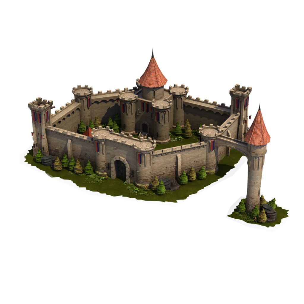 Palace clipart. Medieval village