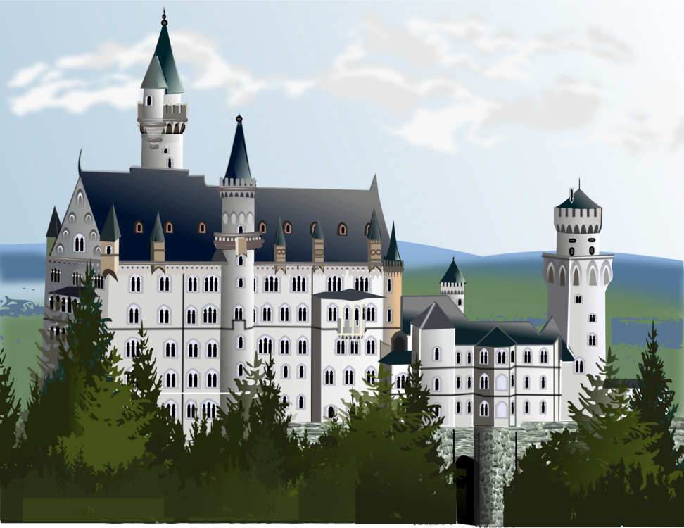 Transparent castle palace. Neuschwanstein waldburg computer icons