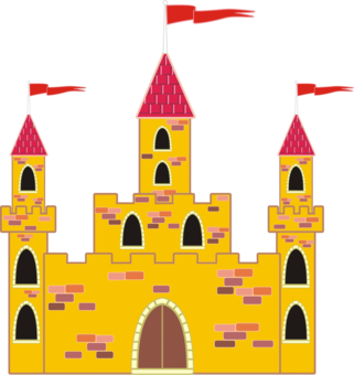 Palace clipart cartoon. Turret fortified tower weapon